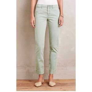 Anthropologie Pilcro Cropped Chinos